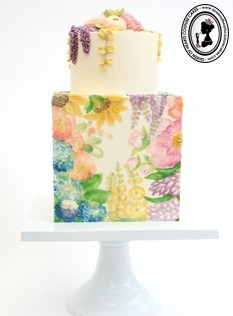 Palette knife painting and flower piping with Queen of Hearts